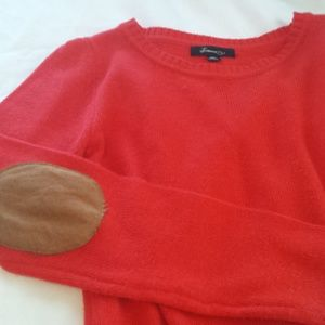Red Forever 21 Sweater with Elbow Patches.